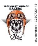 lagendary vintage racers...   Shutterstock .eps vector #1280723443