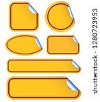 yellow blank sticker | Shutterstock .eps vector #1280723953