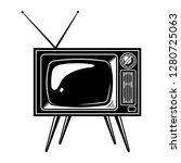 retro tv set concept with... | Shutterstock . vector #1280725063