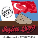 the election in turkey 2019... | Shutterstock .eps vector #1280725336