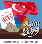 the election in turkey 2019... | Shutterstock .eps vector #1280725339