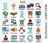 set of internet services icons  ... | Shutterstock .eps vector #128072648