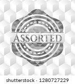 assorted retro style grey... | Shutterstock .eps vector #1280727229