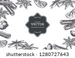 vector vintage background with... | Shutterstock .eps vector #1280727643