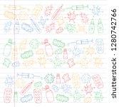 cough  pills  influenza  flu ...   Shutterstock .eps vector #1280742766