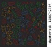 cough  pills  influenza  flu ...   Shutterstock .eps vector #1280742769