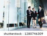business people having a... | Shutterstock . vector #1280746309