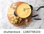 flat lay composition with pot... | Shutterstock . vector #1280748103