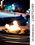 bonfire on a winter night | Shutterstock . vector #1280752489