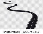 long winding road.... | Shutterstock .eps vector #1280758519
