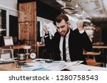 business suit. disappointed.... | Shutterstock . vector #1280758543