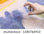 workshop of hand making a... | Shutterstock . vector #1280766910