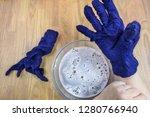 workshop of hand making a... | Shutterstock . vector #1280766940