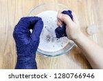 workshop of hand making a... | Shutterstock . vector #1280766946