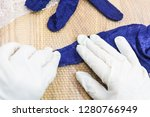 workshop of hand making a... | Shutterstock . vector #1280766949