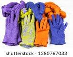 workshop of hand making a... | Shutterstock . vector #1280767033
