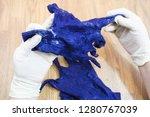 workshop of hand making a... | Shutterstock . vector #1280767039