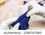 workshop of hand making a... | Shutterstock . vector #1280767060