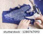 workshop of hand making a... | Shutterstock . vector #1280767093