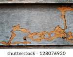 Termite Track On Wooden Wall.