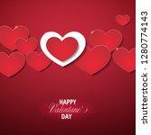 hearts background design for... | Shutterstock .eps vector #1280774143