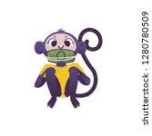 vector illustration of monkey...   Shutterstock .eps vector #1280780509