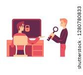vector illustration of one man... | Shutterstock .eps vector #1280780833