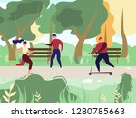 resting and doing sports... | Shutterstock .eps vector #1280785663