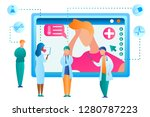 vector man seeking medical... | Shutterstock .eps vector #1280787223