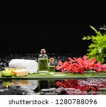 tranquil spa scene  red orchid... | Shutterstock . vector #1280788096
