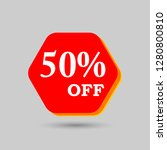 50  off discount sticker. sale... | Shutterstock .eps vector #1280800810
