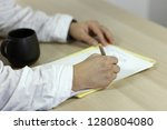 the man' hands on white medical ...   Shutterstock . vector #1280804080