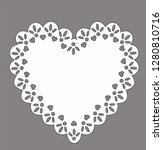 heart doily vector vintage lace ... | Shutterstock .eps vector #1280810716