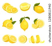 detailed vector set of sliced... | Shutterstock .eps vector #1280811940