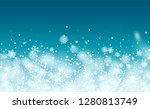 new year snow background.... | Shutterstock .eps vector #1280813749