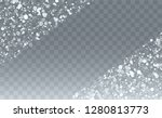 realistic snowflakes background.... | Shutterstock .eps vector #1280813773