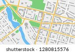 city map with streets  roads ... | Shutterstock . vector #1280815576