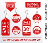 price tag set. sale and... | Shutterstock . vector #1280815900