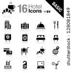 basic   hotel icons | Shutterstock .eps vector #128081849