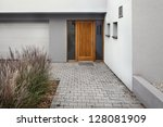detail of entrance to a new... | Shutterstock . vector #128081909