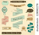 vintage website design elements ... | Shutterstock .eps vector #128082278