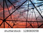 power tower in the sky... | Shutterstock . vector #128083058