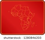 map of africa | Shutterstock .eps vector #1280846203
