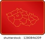 map of czech republic | Shutterstock .eps vector #1280846209