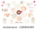 big romantic collection of... | Shutterstock .eps vector #1280846989
