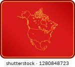 map of north america | Shutterstock .eps vector #1280848723