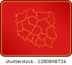 map of poland | Shutterstock .eps vector #1280848726