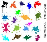 set of ink in different colors | Shutterstock . vector #128084900