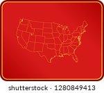 map of usa | Shutterstock .eps vector #1280849413