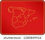 map of spain | Shutterstock .eps vector #1280849416